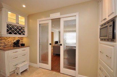 Kitchen With Sliding Doors