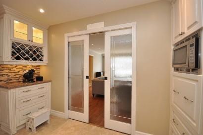 Kitchen With Sliding Doors